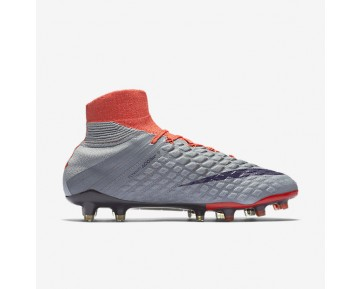 Nike Hypervenom Phantom 3 DF FG Womens Shoes Wolf Grey/Max Orange/Bright Melon/Purple Dynasty Style: 881545-058