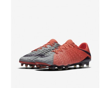 Nike Hypervenom Phantom 3 FG Womens Shoes Wolf Grey/Max Orange/Bright Melon/Purple Dynasty Style: 881543-058