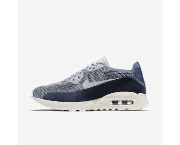 Nike Air Max 90 Ultra 2.0 Flyknit PNCL Womens Shoes Ocean Fog/Pure Platinum Style: 889694-400